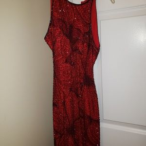 Cache Red and Black Evening Gown